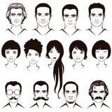 Характер людей и женщин головной иллюстрация штока