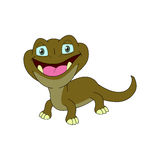 Характер ящерицы с вид спереди и раскрывает глаз Стоковое Изображение