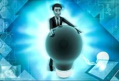 характер 3d с иллюстрацией шарика Стоковая Фотография RF