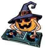 Характер DJ тыквы хеллоуина Изолят на белой предпосылке бесплатная иллюстрация