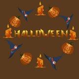 характер halloween предпосылки изолированный над плакатом также вектор иллюстрации притяжки corel Стоковое Изображение
