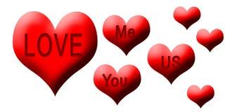 Харты влюбленности Mor Стоковая Фотография RF