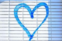 Харт брызг-покрашенный синью стоковые фото