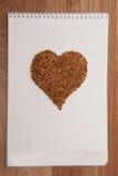 Харт влюбленности на тетради Стоковая Фотография