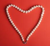 Харт pearls белизна Стоковые Изображения