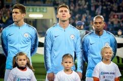 ХАРЬКОВ, УКРАИНА - 23-ье октября 2018: Футболист Manchester City во время матча лиги чемпионов UEFA между Shakhtar стоковые изображения rf