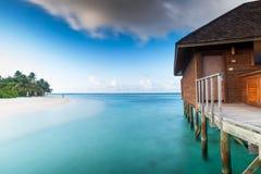 Хата воды Мальдивов Стоковые Фотографии RF