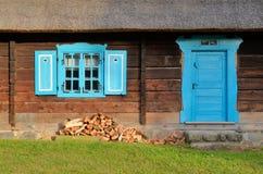 Хата в под открытым небом музее в Olsztynek (Польша) Стоковые Изображения