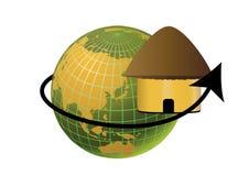 хата глобуса иллюстрация штока