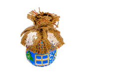 Хата игрушки рождества на белой предпосылке Стоковая Фотография RF