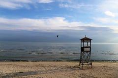 Хата личной охраны на пляже Стоковые Изображения