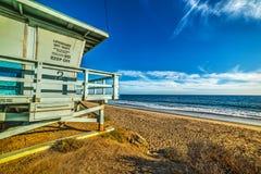 Хата личной охраны морем в береге Malibu Стоковое Фото