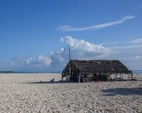 Хата на побережье океана стоковое фото