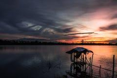 Хата на реке Стоковые Изображения RF