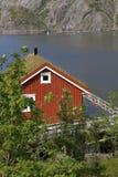 хата Норвегия рыболовства Стоковое Изображение RF