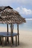 хата пляжа деревянная Стоковые Изображения