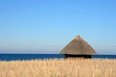 хата пляжа Стоковые Фото