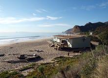 хата пляжа Стоковые Изображения