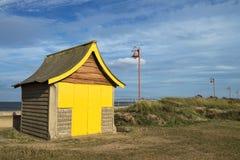 Хата пляжа на Mablethorpe Стоковое Изображение
