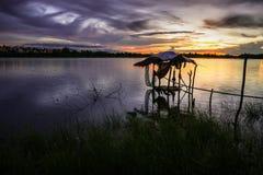 Хата рыбной ловли Стоковые Фотографии RF