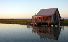 хата рыболовства залива Стоковое фото RF