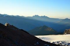 Хата для альпинистов Грузия Стоковые Изображения RF