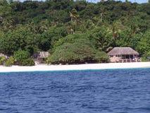Хаты 2 бечевника острова Тонги Стоковые Фото