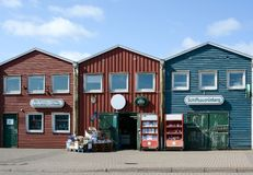 Хаты омара Hummerbuden, Helgoland, Германия Стоковое фото RF