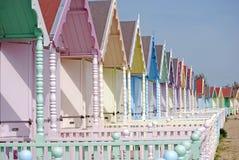 хаты пляжа милые Стоковое фото RF