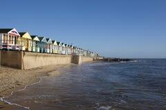 Хаты пляжа, Southwold, суффольк, Англия Стоковая Фотография RF