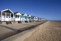Хаты пляжа, Southwold, суффольк, Англия Стоковые Изображения RF