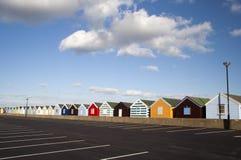 Хаты пляжа, Southwold, суффольк, Англия Стоковое Фото