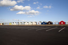 Хаты пляжа, Southwold, суффольк, Англия Стоковое фото RF
