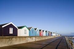 Хаты пляжа, Southwold, суффольк, Англия Стоковое Изображение RF