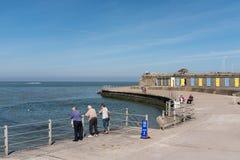 Хаты прогулки и пляжа, залив Minnis, Thanet, Кент Стоковые Изображения RF