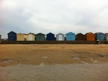 Хаты пляжа взморья Стоковые Изображения RF