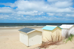 Хаты пляжа на Texel Стоковые Изображения