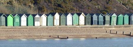 Хаты пляжа, Хемпшир Стоковые Изображения RF
