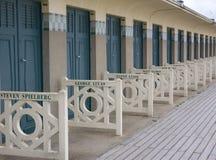 Хаты пляжа, Deauville стоковые изображения