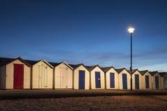 Хаты пляжа Goodrington стоковое фото