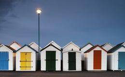 Хаты пляжа Goodrington стоковое фото rf