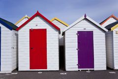 Хаты пляжа, Goodrington, Paignton стоковое изображение