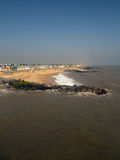 хаты пляжа southwold Стоковые Фотографии RF
