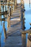 Хаты рыболовов в лагунах Стоковые Фото