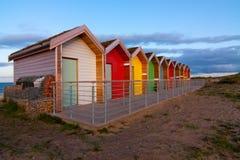 хаты свободного полета пляжа восточные северные стоковое изображение