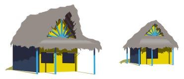 хаты 2 пляжа карибские иллюстрация штока
