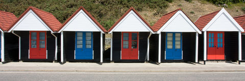 хаты bournemouth пляжа Стоковые Фотографии RF