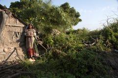 Хаты Kutch, Гуджарата, Индии Стоковое Изображение