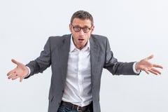 Халатный бизнесмен обвиняя, обвиняя или игнорируя управление Стоковое Изображение