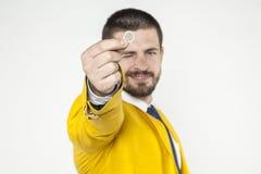 Хваление бизнесмена деньги Стоковое фото RF